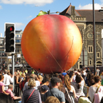Frankie Locke ~ The Giant Peach on Cardiff High Street